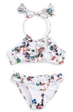 Little Peixoto Grace - Two Piece Swimsuit (Toddler Girl and Little Girl) . Bikini Pool, Baby Bikini, Baby Swimsuit, Kids Outfits Girls, Girl Outfits, Club Outfits, Toddler Swimsuits, Kids Suits, Girls Bathing Suits