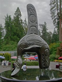 Vancouver Aquarium in Stanley Park Vancouver - Orca Sculpture by Bill Reid by Bruce Aleksander & Dennis Milam, via Flickr