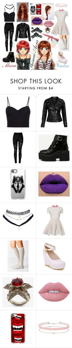 """Shimae Aora opposites twin beauties"" by melex1997 ❤ liked on Polyvore featuring Alexander Wang, VIPARO, Casetify, Wet Seal, Alex Perry, Urban Outfitters, Alexander McQueen, Lime Crime, Hello Kitty and Miss Selfridge"