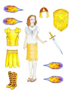 Guardians of Virtue - paper doll.  Love that someone did it!  Turned out so cute!