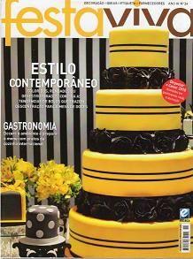 Revista Festa Viva Ano II Edição 13 | Revistas de decorações de Festas, casamento e Gastronomia