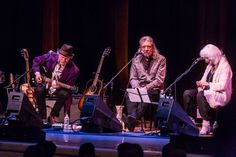 Robert Plant, Buddy Miller and Emmylou Harris at the Lampedusa: Concert for Refugees, New York, October 18, 2016.