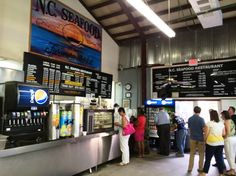 Order area at NC Seafood Restaurant, Raleigh- NC Triangle Dining