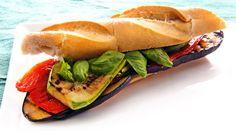 Sandwich de verduras asadas