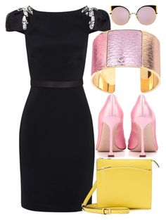 """Strawnana Holo"" by egordon2 ❤ liked on Polyvore featuring Notte by Marchesa, Reed, Miu Miu, Fendi and Aspinal of London"