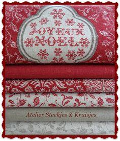 """""""Joyeux Noel"""" from French General. Collection from Atelier Steekjes & Kruisjes"""