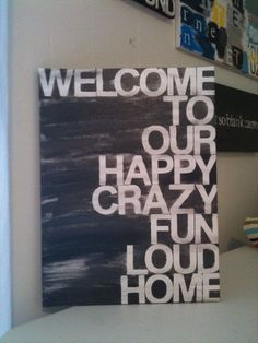 welcome to ourhome by thenotsoblankcanvas on Etsy, $35.00