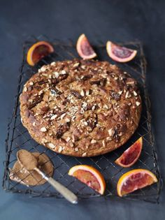 figgy banana bread with blood orange & nut butter - Jamie Oliver Easy Banana Bread, Banana Bread Recipes, Fruit Recipes, Sweet Recipes, Cake Recipes, Recipies, Jamie Oliver Breakfast, Banana And Egg, Nut Butter