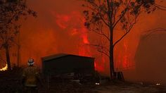 """Fire services have reported a man has died as the worst bushfire crisis in NSW in a decade remains """"very active"""", leaving about 100 properties destroyed, despite improved conditions."""