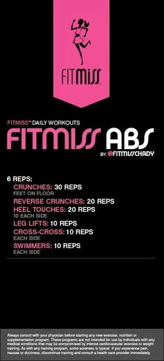 Fitmiss Abs daily workout