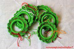 ... Ninaempontoelinha ...: Argola porta guardanapos em croché