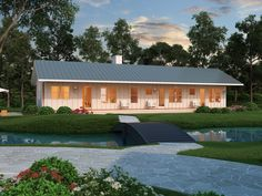 Two Bedroom Ranch House Plans Awesome Ranch Style House Plan 2 Beds 2 Baths 1480 Sq Ft Plan 888 4