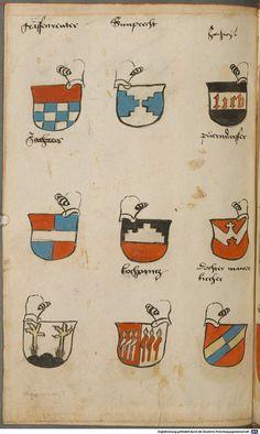 Wappen besonders von deutschen Geschlechtern Süddeutschland ?, 1475 - 1560 Cod.icon. 309 Folio 62v