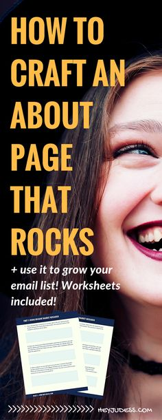 how to write an about page that rocks and use it to grow your email list | about me page | blogging for beginners | how to start a blog | blogging tips and tricks