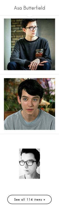 """""""Asa Butterfield"""" by supernatural-fan-1999 ❤ liked on Polyvore featuring asa butterfield, home, home decor, people, celebrities, models, celebs, guys, asa and men"""