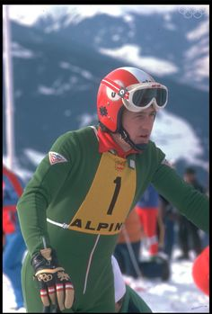 Franz Klammer - Innsbruck 1976, Sarajevo 1984 - Alpine ski racer - gold medalist at the 1976 Winter Olympics in Innsbruck, winning the downhill at Patscherkofel in dramatic fashion. He won 25 World Cup downhills, including four on the Hahnenkamm at Kitzbühel.