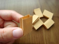 How to make a miniature lunch bag. Not sure when these would be useful, but they are definitely cute.