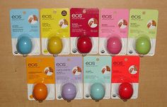 EOS Lip Balm (Lot of 9) including the new Holiday PASSION FRUIT, (As pictured).