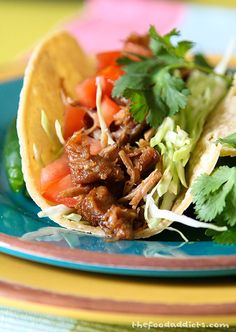 Recipe for Carnitas - These are great to eat as a taco with corn tortillas, tomatoes, shredded cabbage, cilantro, and a squeeze of lime.