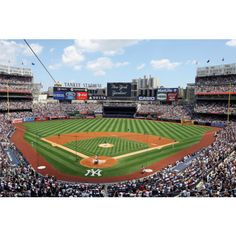 New York Yankees fan?  Prove it!  Put your passion on display with the Behind Home Plate at Yankee Stadium Mural Fathead from Fathead.com!