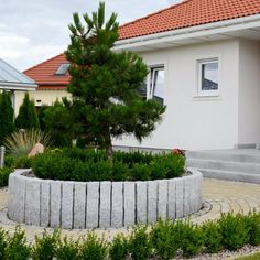 granit palisaden - 20 ideen für schöne gartengestaltung | garten, Garten dekoo