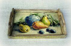 agir / Tácka Eggplant, Pear, Vegetables, Fruit, Handmade, Vintage, Food, Home Decor, Hand Made