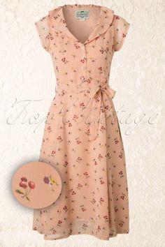 Collectif Clothing Violet Blush Pink Floral Dress 13309 20140612 0010WAV