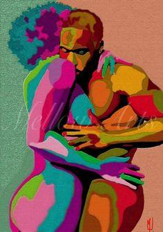 Onward march... Sexy Black Art, Black Love Art, African American Art, African Art, Black Art Pictures, Beauty In Art, Black Artwork, Thing 1, Afro Art