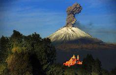 Resultado de imagen para popocatépetl erupcion