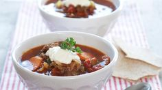 Oppskrift på Rask suppe med kjøttdeig