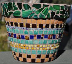 Mosaic Flower Pot   Flickr - Photo Sharing!