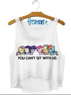 Unicorn you can't sit with us crop top
