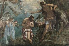 Baptism of Christ - Tintoretto (Raising of Lazarus in Reading Public Museum)