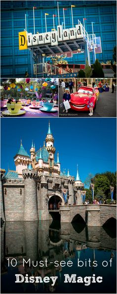 Top 10 must-see pieces of magic at Disneyland. These things are awesome enough to tempt even the strongest of WDW fans to trek to California! Disneyland Vacation, Disneyland Tips, Disneyland California, Disney Tips, Disney World Vacation, Disney Vacations, Disney Love, Disney Magic, Disney Parks