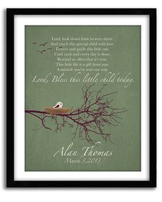 """Items similar to Personalized Baby Boy Christening Gift, Prayer """"Lord, Bless this little child"""" Nursery wall art print on Etsy Christening Gifts For Boys, Baby Boy Christening, Christening Quotes, Baby Boy Rooms, Baby Boy Nurseries, Life Is A Gift, Baby Love, Baby Baby, Cool Pets"""