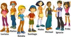 I, 4 - Personajes ¡Perfecto para describir a los personajes! Vocabulario adjetivos, la ropa y los colores