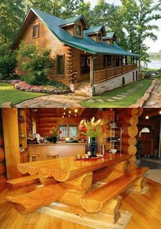 There are many myths about owning or buying log cabins. Myths that have discouraged many from buying or building a log cabin. Log Cabin Living, Small Log Cabin, Log Cabin Homes, Log Cabins, Cabins In The Woods, House In The Woods, Cabin Design, House Design, Log Cabin Plans
