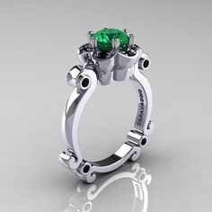 Art Masters Caravaggio 10K White Gold 1.0 Ct Emerald by artmasters, $829.00