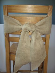 2 Burlap Sashes 6 x 80 Natural Color by LaruesLine on Etsy, $8.00