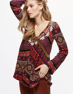 Free People Pullover, Bell Sleeves