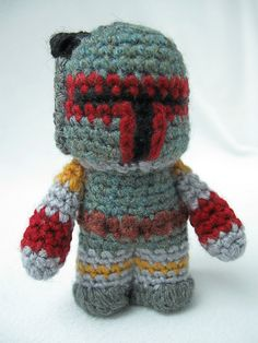 Boba Fett. http://www.ravelry.com/patterns/library/boba-fett---star-wars-mini-amigurumi Barry wants this, so he is going to have to cough up the $3.50 for the pattern :) <3