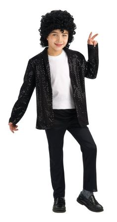 Michael Jackson Billie Jean Jacket Costume for Kids Children