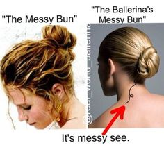 And even when you try to do a messy bun, it comes out to perfect.