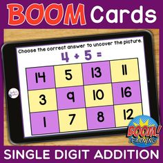 THIS IS AN INTERACTIVE DIGITAL RESOURCE. Download the preview to play a shortened version of the Boom Deck to check suitability. ABOUT THIS BOOM DECK: At the beginning, the picture is totally hidden by the answer boxes. As students select the correct answer to each question, one piece of the picture will be uncovered. When all the questions have been answered correctly, the whole picture will be revealed. Each of the 2 school-themed pictures has 12 questions to make a total of 24 questions.