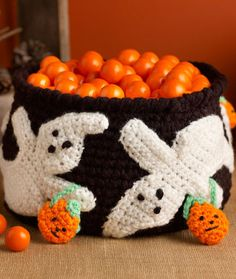 Ghostly Candy Bowl Free Crochet Pattern LW3746