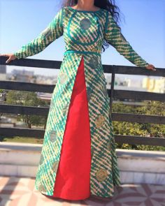 Buy The Secret Label Multicolored Cotton Printed Front Cut Kurti online in India at best price.Shop online Achkan double dress by The Home Affair This set consists of a sleeveless red cotton maxi Kurti Patterns, Dress Patterns, Kurta Designs, Blouse Designs, Front Cut Kurti, Ethnic Fashion, Indian Fashion, Indian Dresses, Indian Outfits