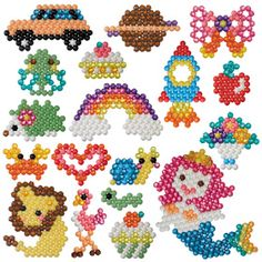 Buy Aquabeads Artists Carry Case at Argos. Thousands of products for same day delivery or fast store collection. Pony Bead Patterns, Peyote Patterns, Beading Patterns, Perler Beads, Fuse Beads, Perler Bead Designs, Diy Educational Toys, Water Beads, Toy Craft
