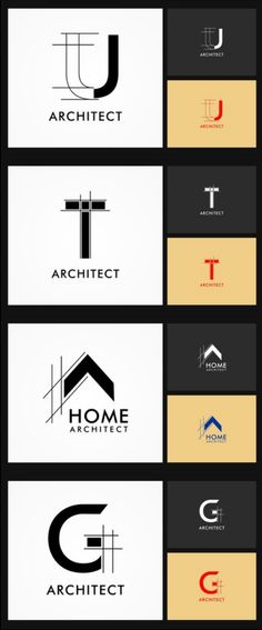 architect logo brand identity to inspire you. Find more inspiration via the link architect logo brand identity to inspire you. Find more inspiration via the link Logo Desing, Branding Design, Logo Inspiration, Architect Sketchbook, Landscaping Logo, Visiting Card Design, Interior Logo, Architecture Logo, Graphic Design Projects