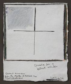 Ralph Hotere - Drawing for a Black Window - Towards Aramoana From the Stables @ Aurora Tce Port Chalmers 1981 New Zealand Art, Nz Art, Black Windows, Conceptual Art, Art Auction, Stables, Painting Inspiration, Aurora, Artists