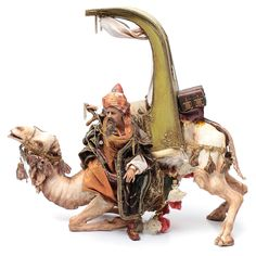 Wise Man getting off Camel 30cm Angela Tripi